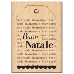 Parfait pour créer : Tampon bois italien BUON NATALE par Florilèges Design. Livraison rapide et cadeau dans chaque commande.
