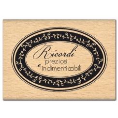PROMO de -99.99% sur Tampon bois italien RICORDI PREZIOSI Florilèges Design