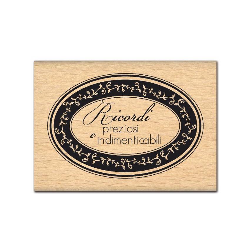 Parfait pour créer : Tampon bois italien RICORDI PREZIOSI par Florilèges Design. Livraison rapide et cadeau dans chaque comma...