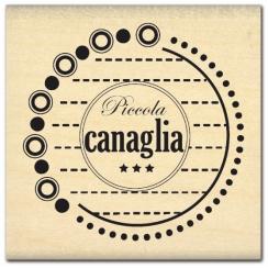 Tampon bois italien PICCOLA CANAGLIA par Florilèges Design. Scrapbooking et loisirs créatifs. Livraison rapide et cadeau dans...