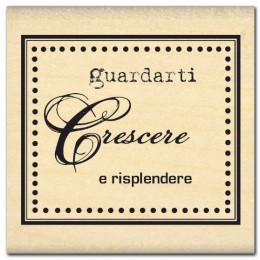 PROMO de -99.99% sur Tampon bois italien GUARDARTI CRESCERE Florilèges Design