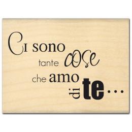 Tampon bois italien TANTE COSE par Florilèges Design. Scrapbooking et loisirs créatifs. Livraison rapide et cadeau dans chaqu...