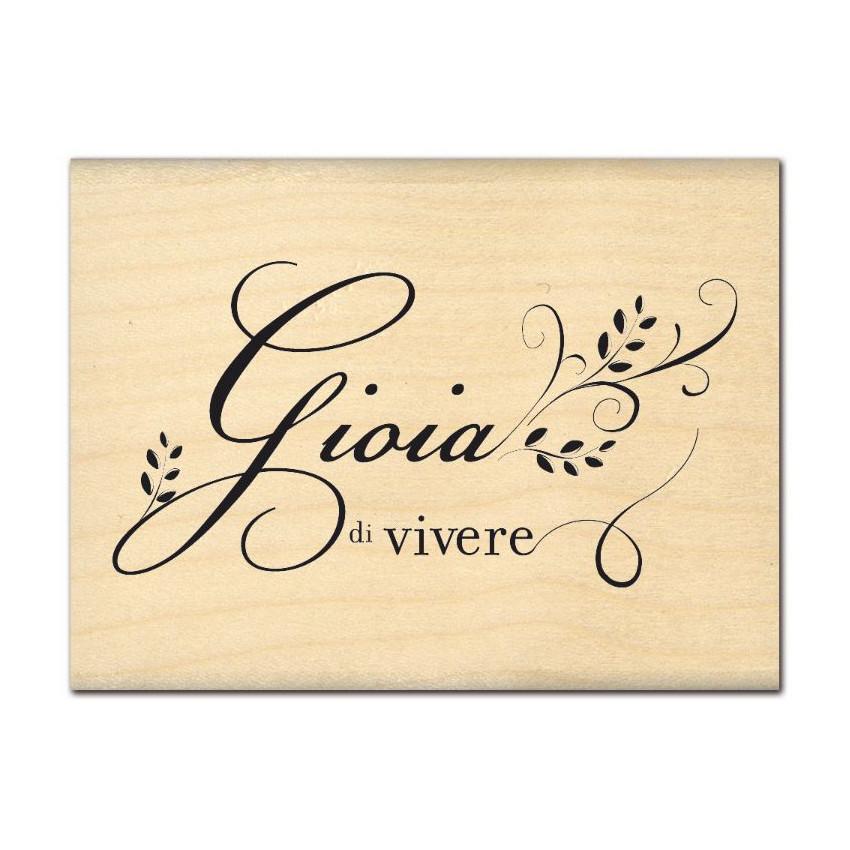 PROMO de -99.99% sur Tampon bois italien GIOIA DI VIVERE Florilèges Design