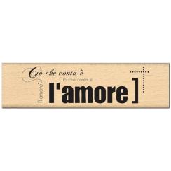 Tampon bois italien E L AMORE par Florilèges Design. Scrapbooking et loisirs créatifs. Livraison rapide et cadeau dans chaque...