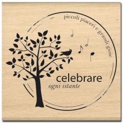 PROMO de -99.99% sur Tampon bois italien CELEBRARE OGNI ISTANTE Florilèges Design