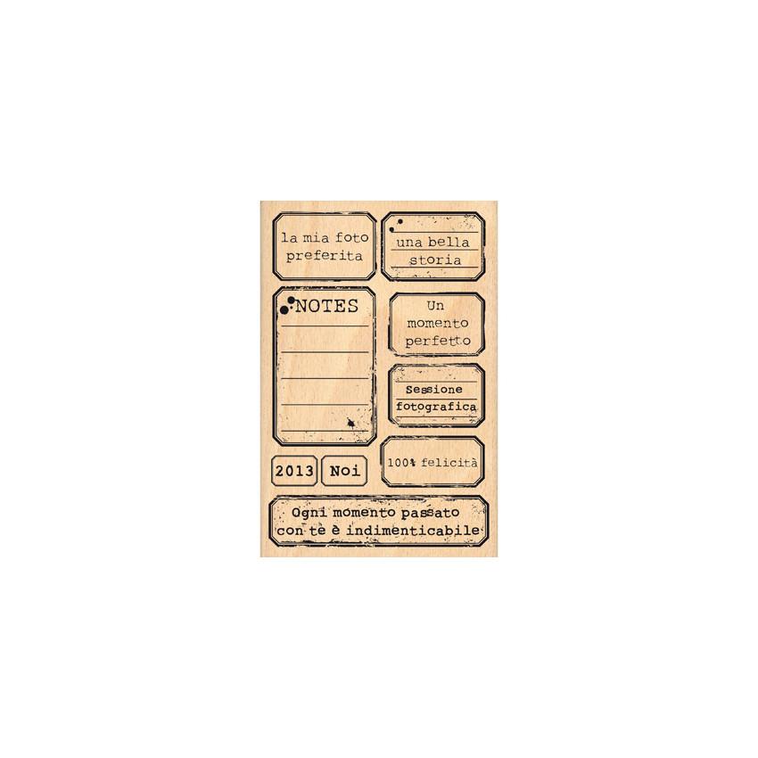 Parfait pour créer : Tampon bois ETICHETTE D'EPOCA par Florilèges Design. Livraison rapide et cadeau dans chaque commande.