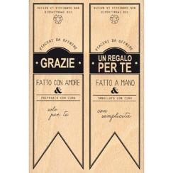 Tampon bois italien BANNER CHIUSURE par Florilèges Design. Scrapbooking et loisirs créatifs. Livraison rapide et cadeau dans ...