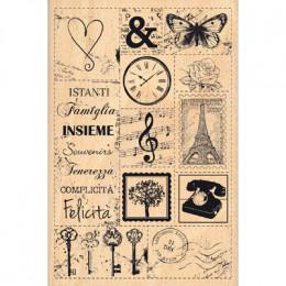 Tampon bois italien PATCHWORK DI IMMAGINI par Florilèges Design. Scrapbooking et loisirs créatifs. Livraison rapide et cadeau...
