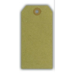 20 tags Kraft 12 x 6 cm