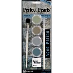 Poudres Perfect Pearls Kit Aged Patina par Ranger. Scrapbooking et loisirs créatifs. Livraison rapide et cadeau dans chaque c...