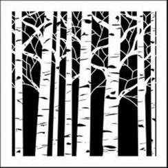 Pochoir ASPEN TREES par Crafter's Workshop. Scrapbooking et loisirs créatifs. Livraison rapide et cadeau dans chaque commande.