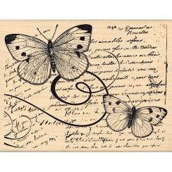 Tampon bois VOL DE PAPILLONS par Florilèges Design. Scrapbooking et loisirs créatifs. Livraison rapide et cadeau dans chaque ...