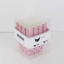 PROMO de -80% sur Caissettes carrées roses à pois brunsOK Cook and Gift