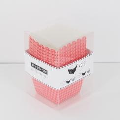 PROMO de -70% sur Caissettes carrées vichy rose/rougeOK Cook and Gift