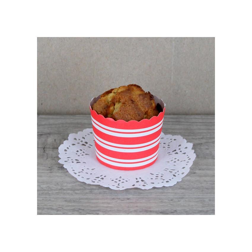 PROMO de -70% sur Caissettes rondes rouges à rayuresOK Cook and Gift
