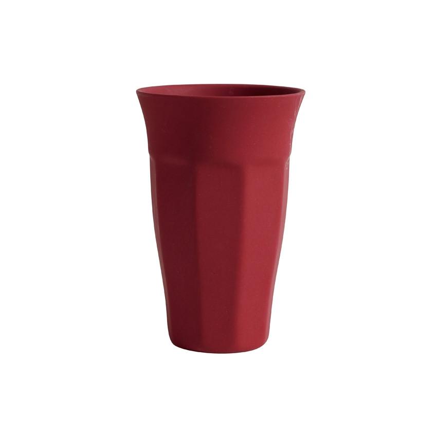 Lot de 4 Mugs Latte en fibres naturelles de bambou rouge