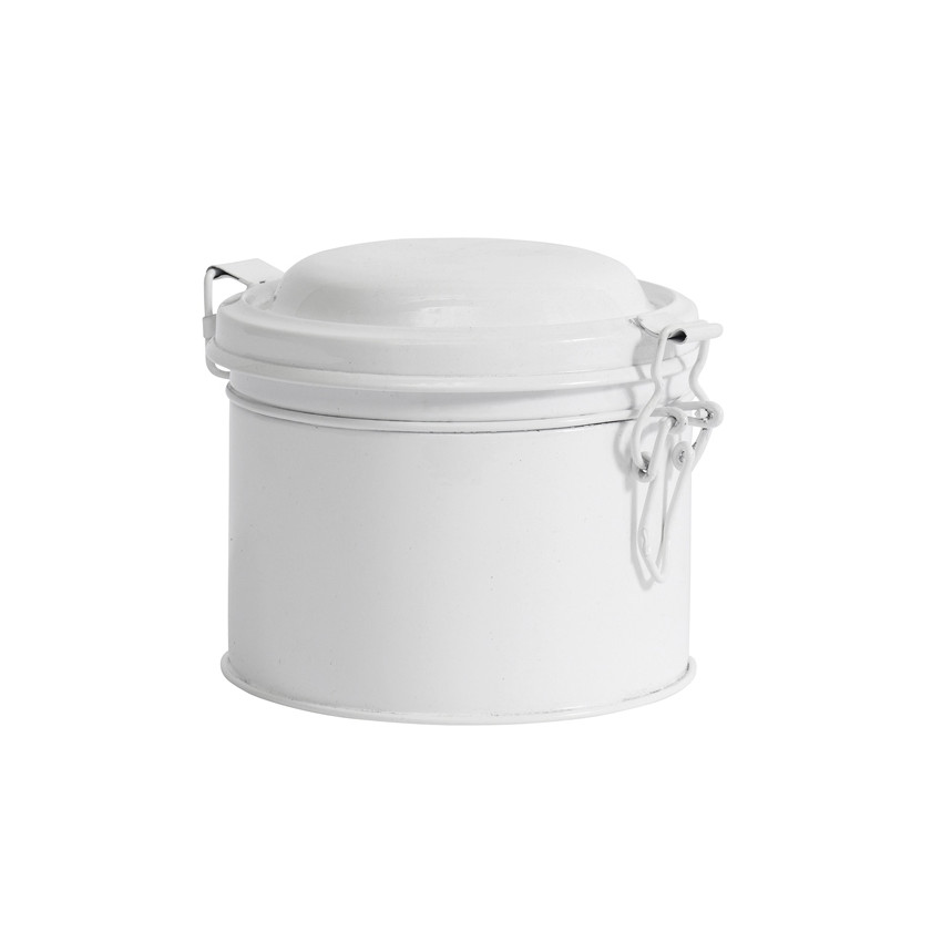 Boite ronde métal blanche petit modèle