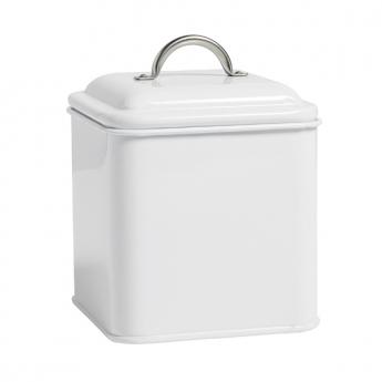 Boite carré Métallique blanche