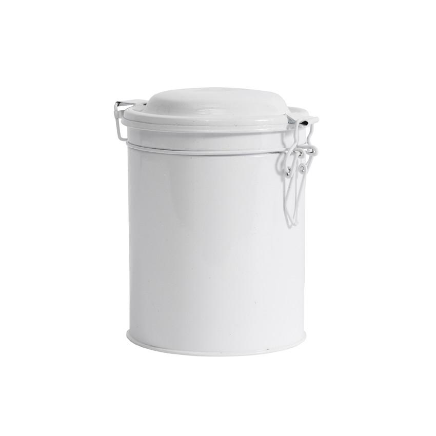 Boite ronde métal blanche moyen modèle