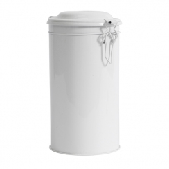 PROMO de -80% sur Boite ronde métal blanche grand modèleOK Nordal