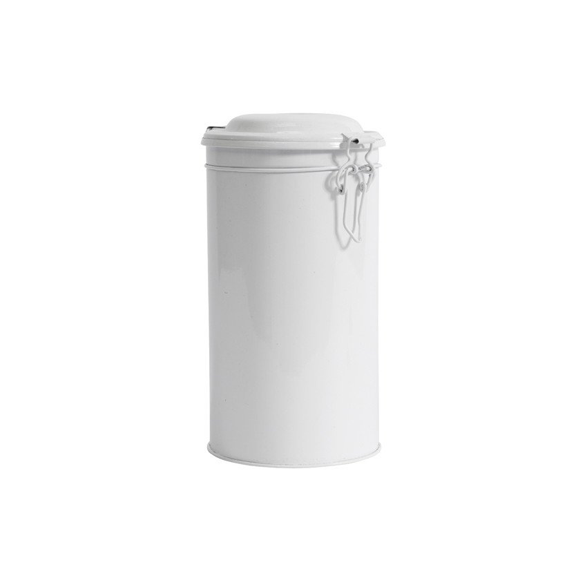 Boite ronde métal blanche grand modèle
