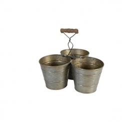 Pot triple métal