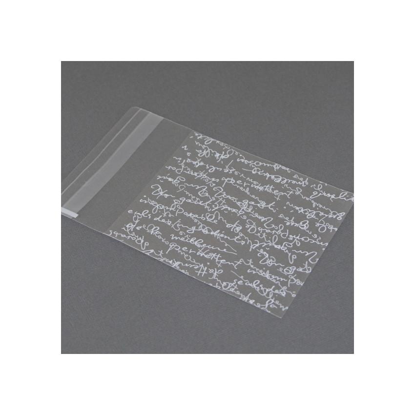 Sachets cristal texte blanc