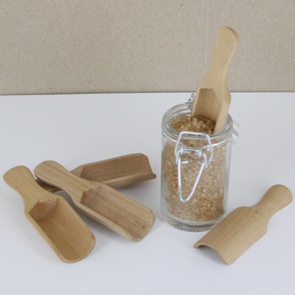 Mini pelles à sel en bois