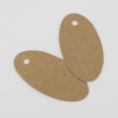 Etiquettes ovales en kraft