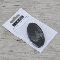 Etiquettes ovales noires