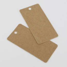 PROMO de -50% sur Etiquettes grands rectangles en kraftOK Cook and Gift