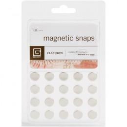 Attaches magnétiques diam 10 mm par Basic Grey. Scrapbooking et loisirs créatifs. Livraison rapide et cadeau dans chaque comm...