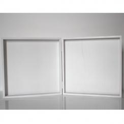 Cadre double laqué blanc