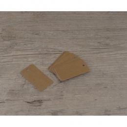 Etiquettes moyennes rectangles kraft