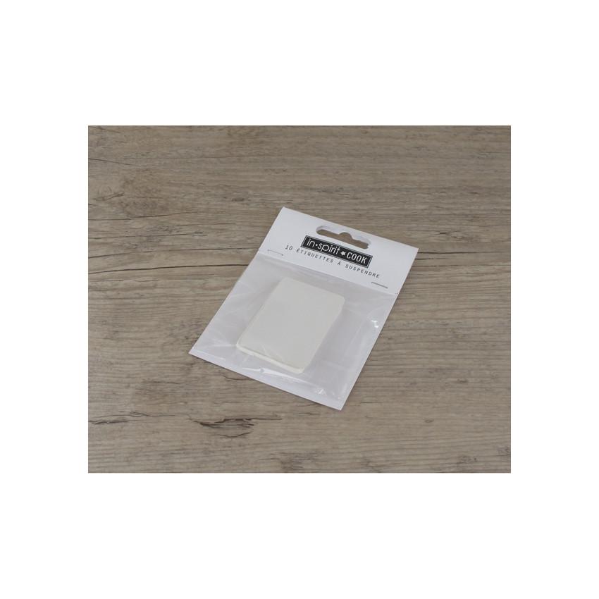 PROMO de -50% sur Etiquettes moyennes rectangles blanchesOK Cook and Gift