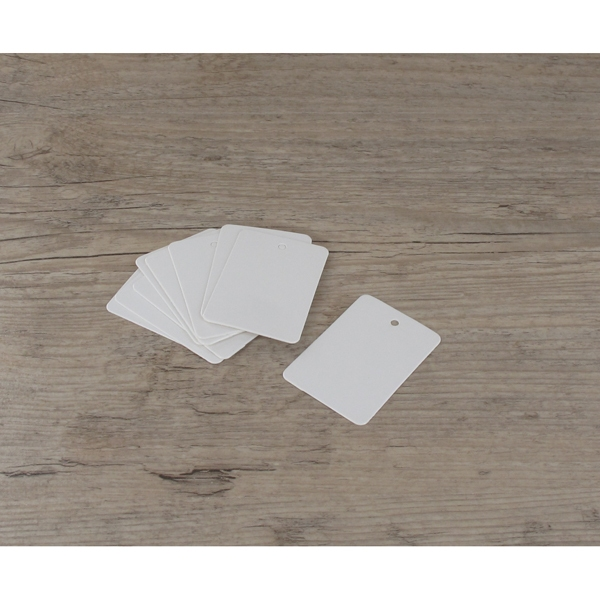 Etiquettes moyennes rectangles blanches