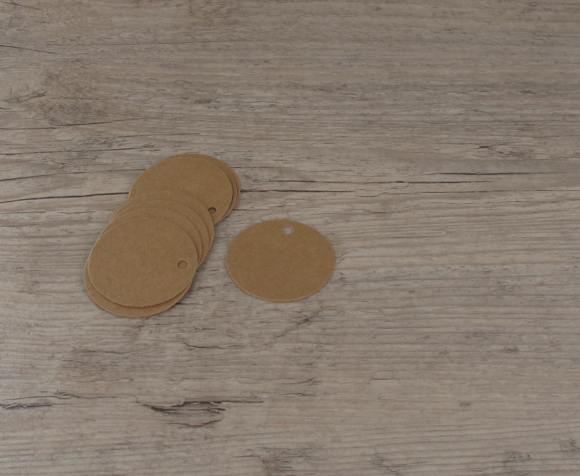 Etiquettes petits ronds kraft