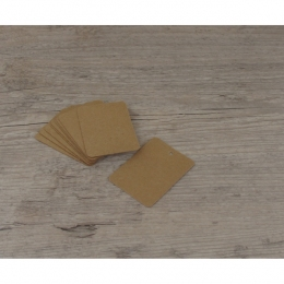 Etiquettes larges rectangles kraft