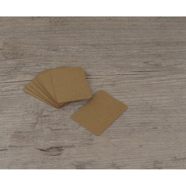 Etiquettes larges rectangles kraft