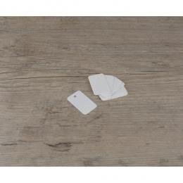 Etiquettes petites rectangles blanches