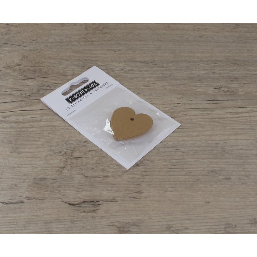 PROMO de -50% sur Etiquettes petits cœurs kraftOK Cook and Gift