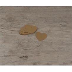 PROMO de -50% sur Etiquettes petits cœurs kraft Cook and Gift