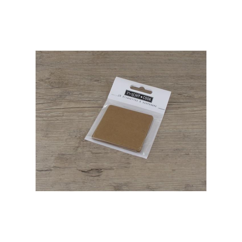 Etiquettes petites rectangles kraft