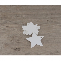 PROMO de -50% sur Etiquettes étoiles blanchesOK Cook and Gift