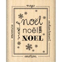 Tampon bois TIMBRE DE NOËL par Florilèges Design. Scrapbooking et loisirs créatifs. Livraison rapide et cadeau dans chaque co...