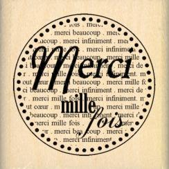 PROMO de -20% sur Tampon bois MERCI MILLE FOIS Florilèges Design