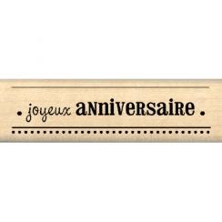 Tampon bois VŒUX D'ANNIVERSAIRE par Florilèges Design. Scrapbooking et loisirs créatifs. Livraison rapide et cadeau dans chaq...