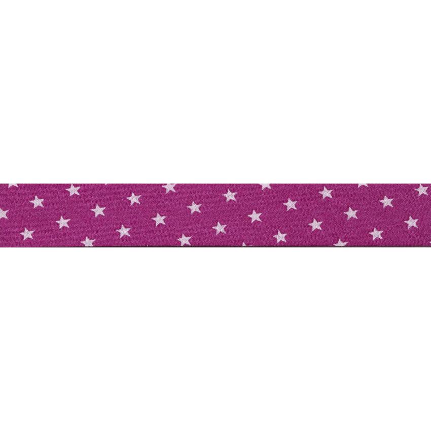 Biais Frou-Frou Collection Camélia à étoiles rose clair