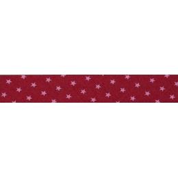PROMO de -70% sur Lot de Biais Frou-Frou Collection Rubis éclatant à étoiles rouge clair Paritys