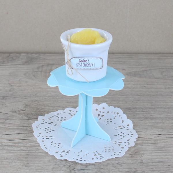 Mini présentoir à cupcake bleu